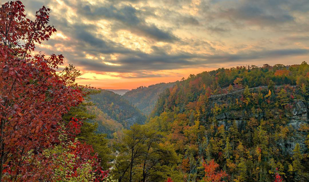 Tallulah Gorge in the fall. Photo by @aljoher_photography