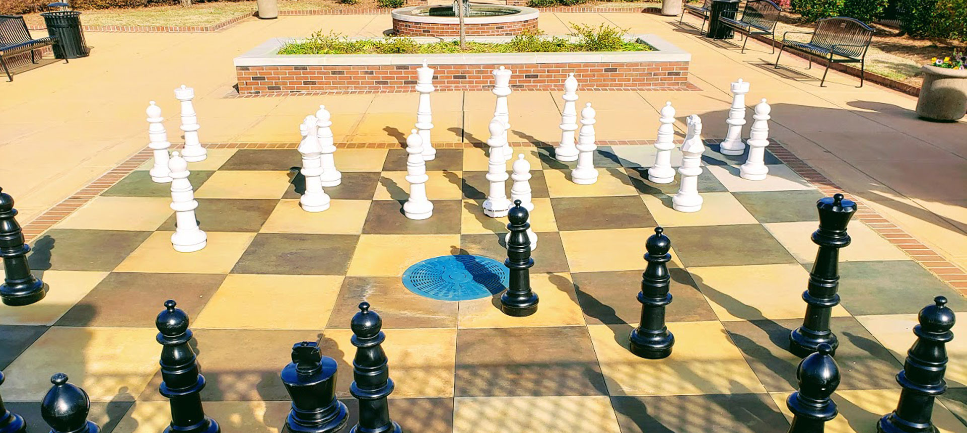 Chess pieces in Paul F. Thiele Park in Sandersville, Georgia