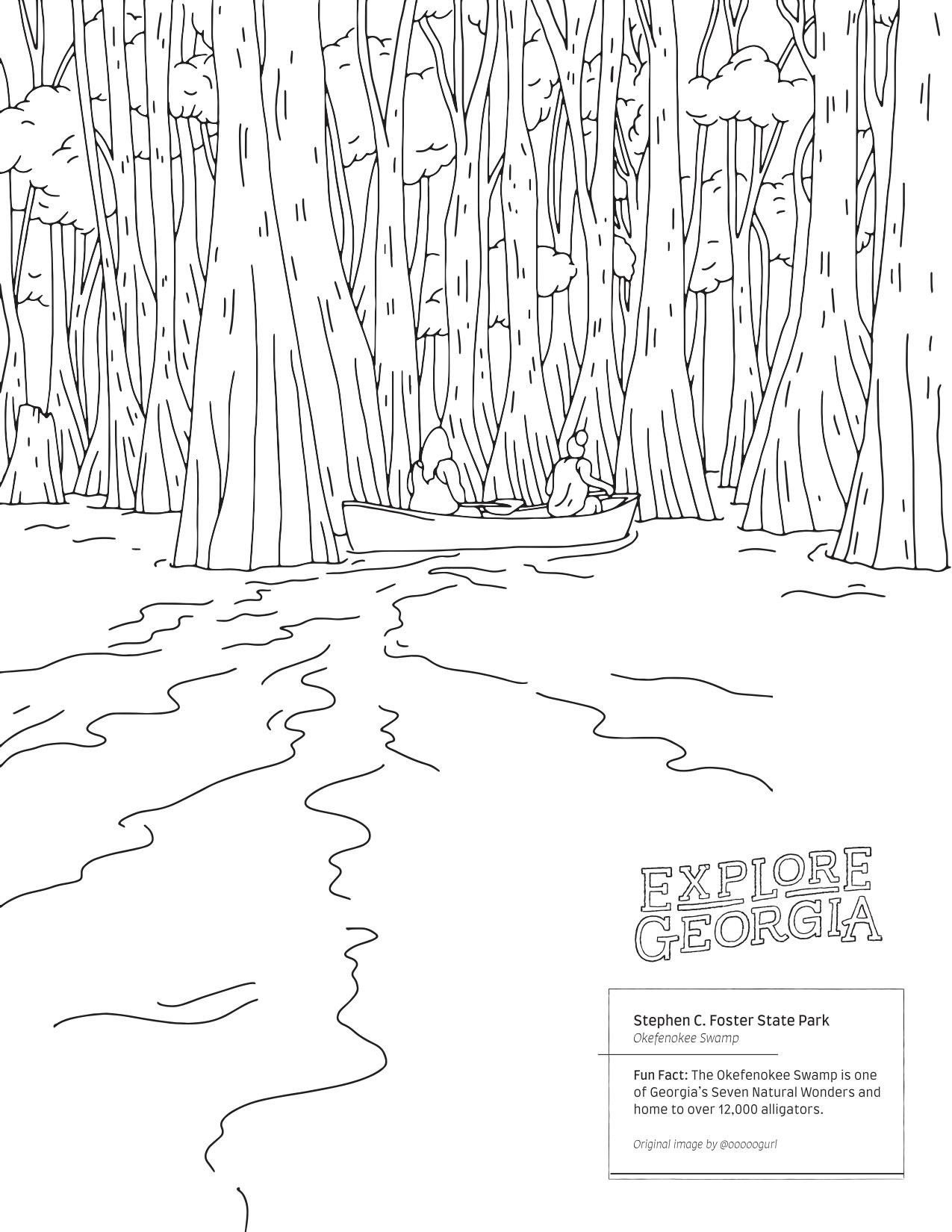 Okefenokee Swamp mural photo