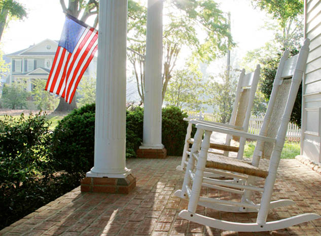 Rocking chairs from The Brumby Chair Co. in Marietta, Georgia