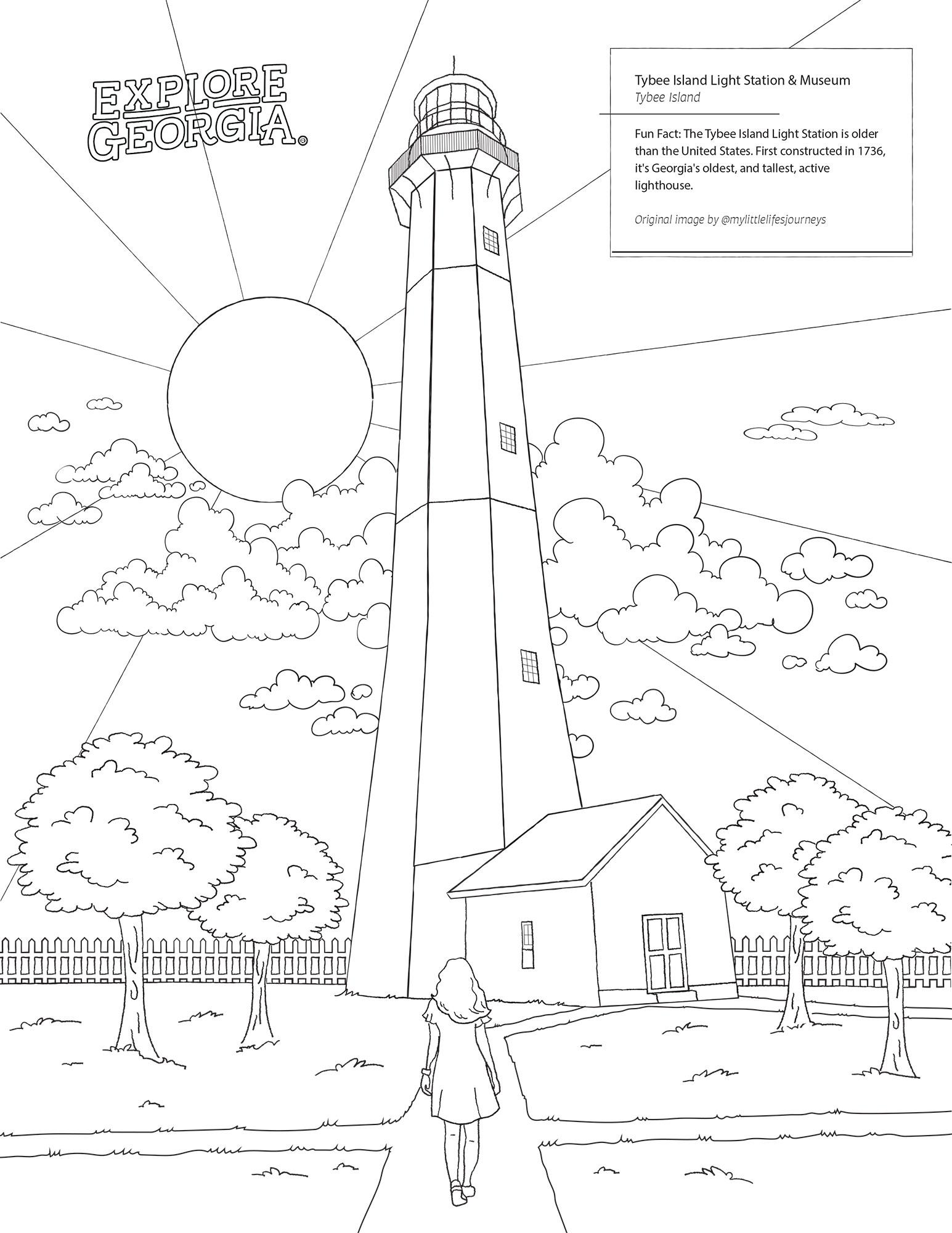 Tybee Lighthouse mural photo