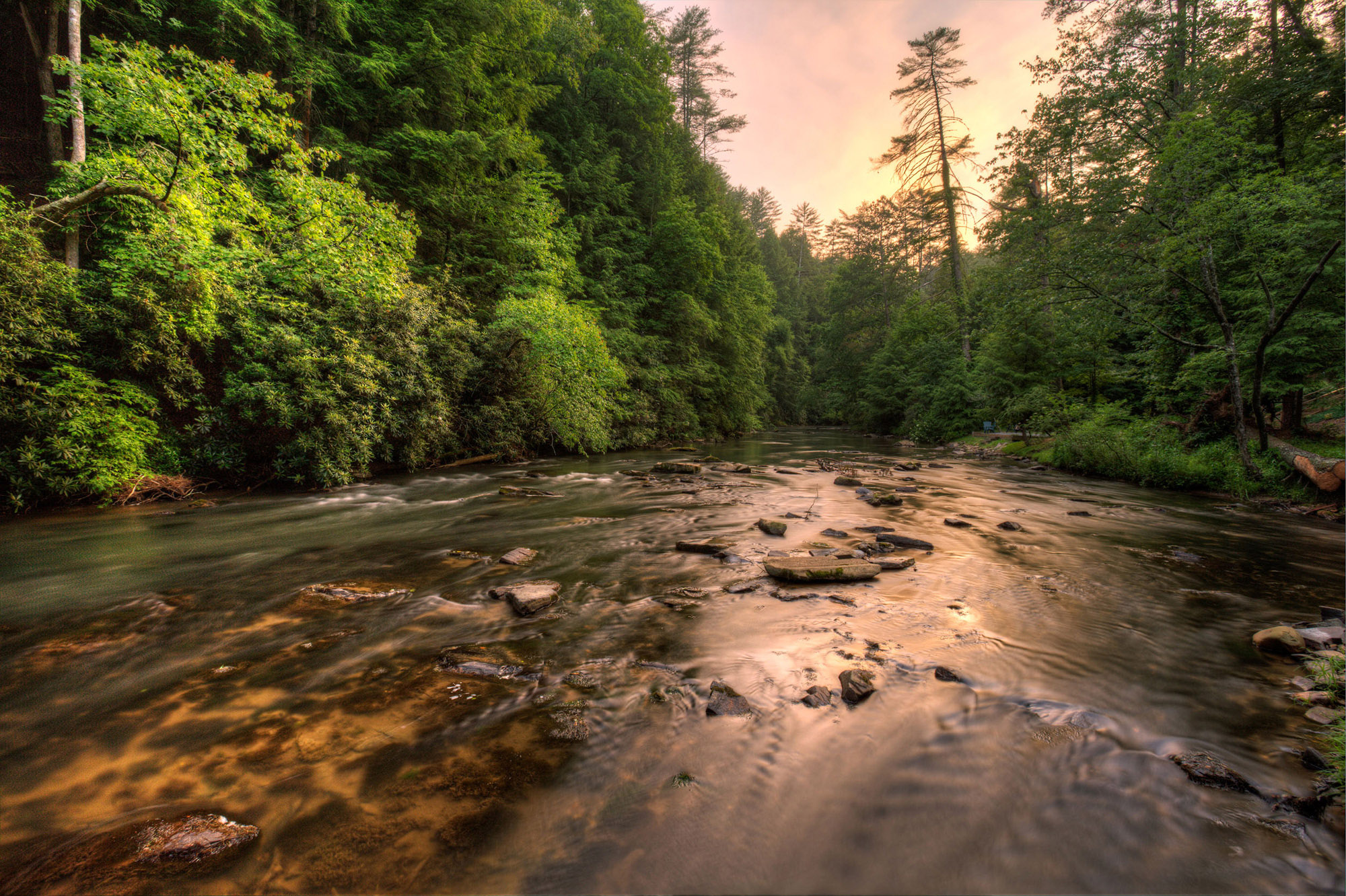 Coosawattee River in Ellijay, Georgia. Photo by Rick Lucas