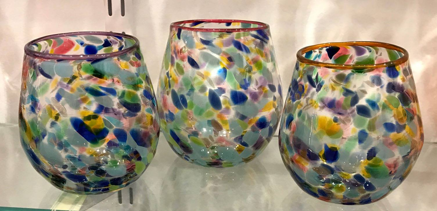 Drinkware from Decatur Glassblowing