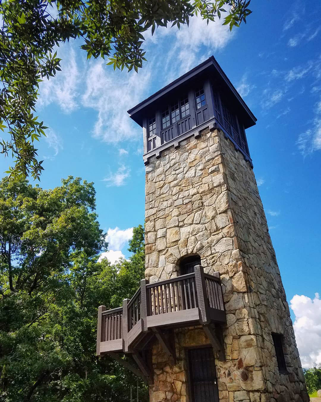 Fire tower at Fort Mountain State Park in Chatsworth, Georgia. Photo by @tfdecot