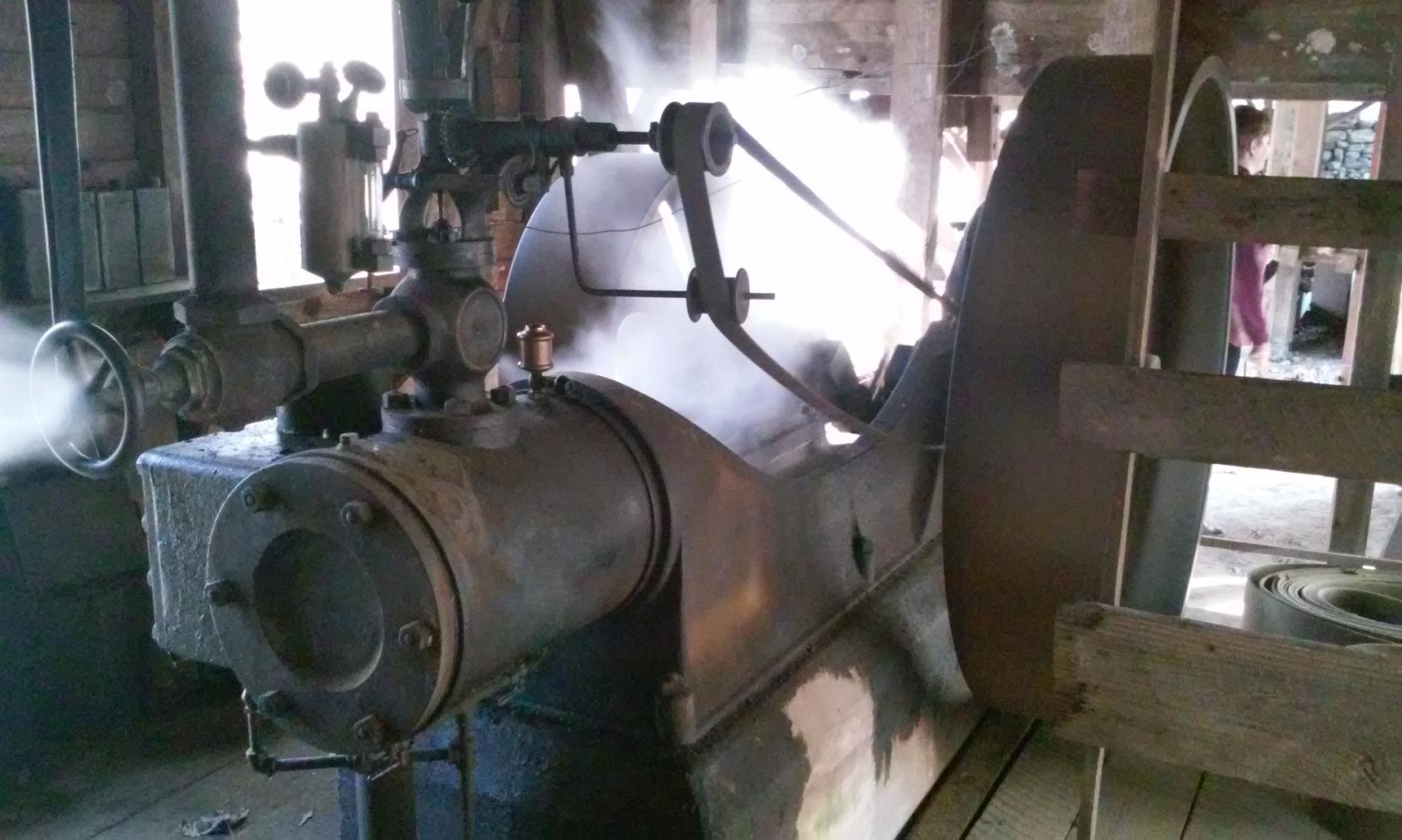 Steam Engine Demonstration at Jarrell Plantation in Gray, Georgia