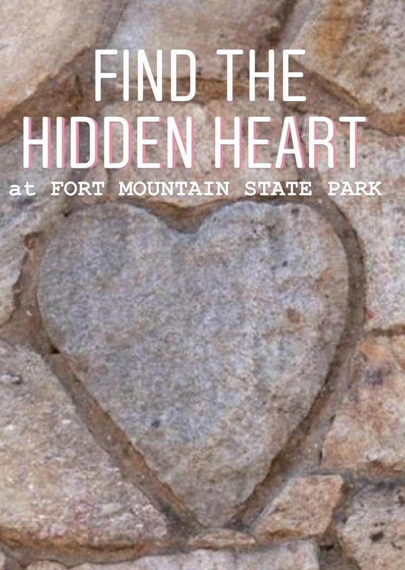 Hidden Heart at Fort Mountain State Park