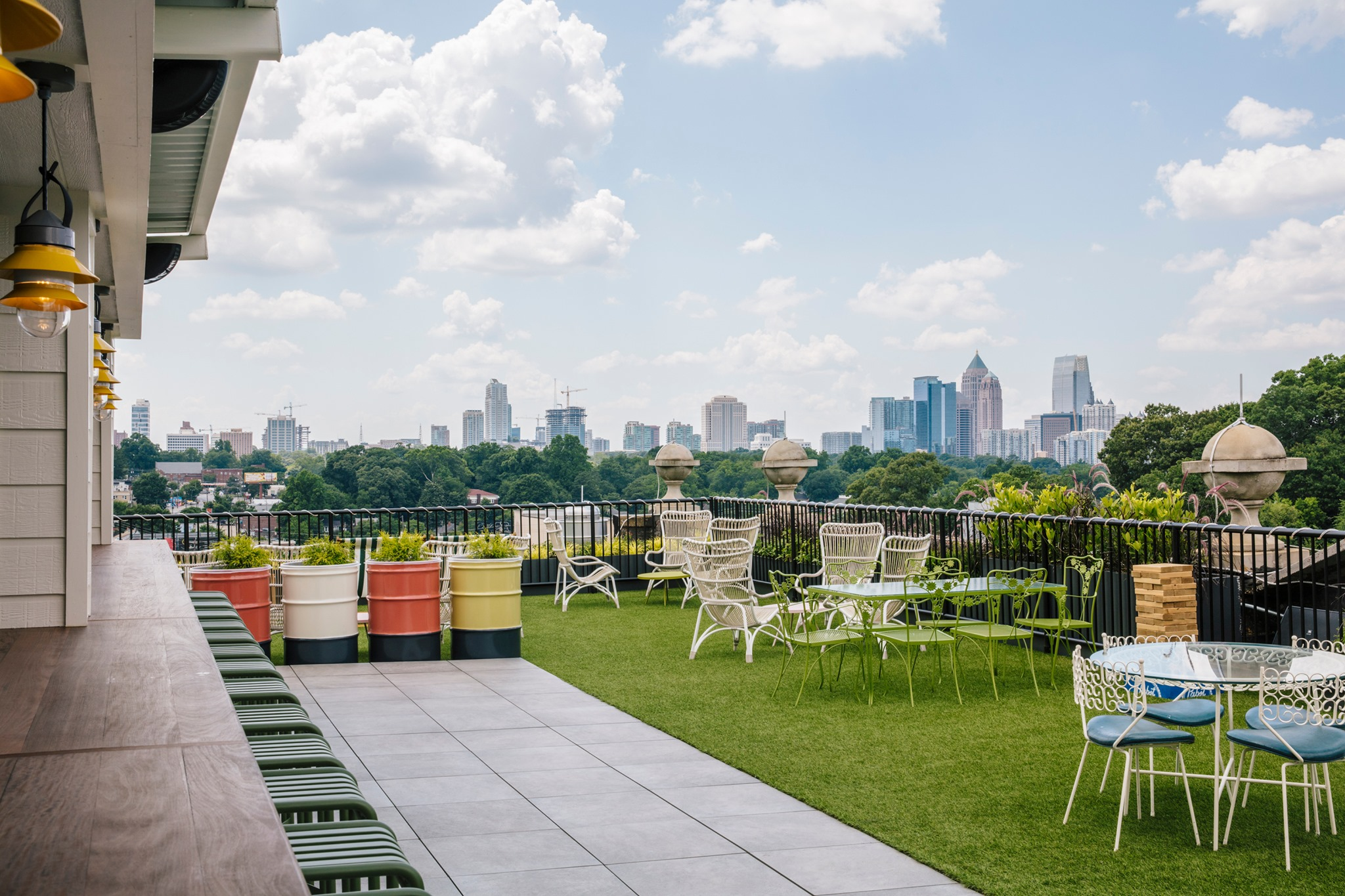 Rooftop at the Hotel Clermont in Atlanta