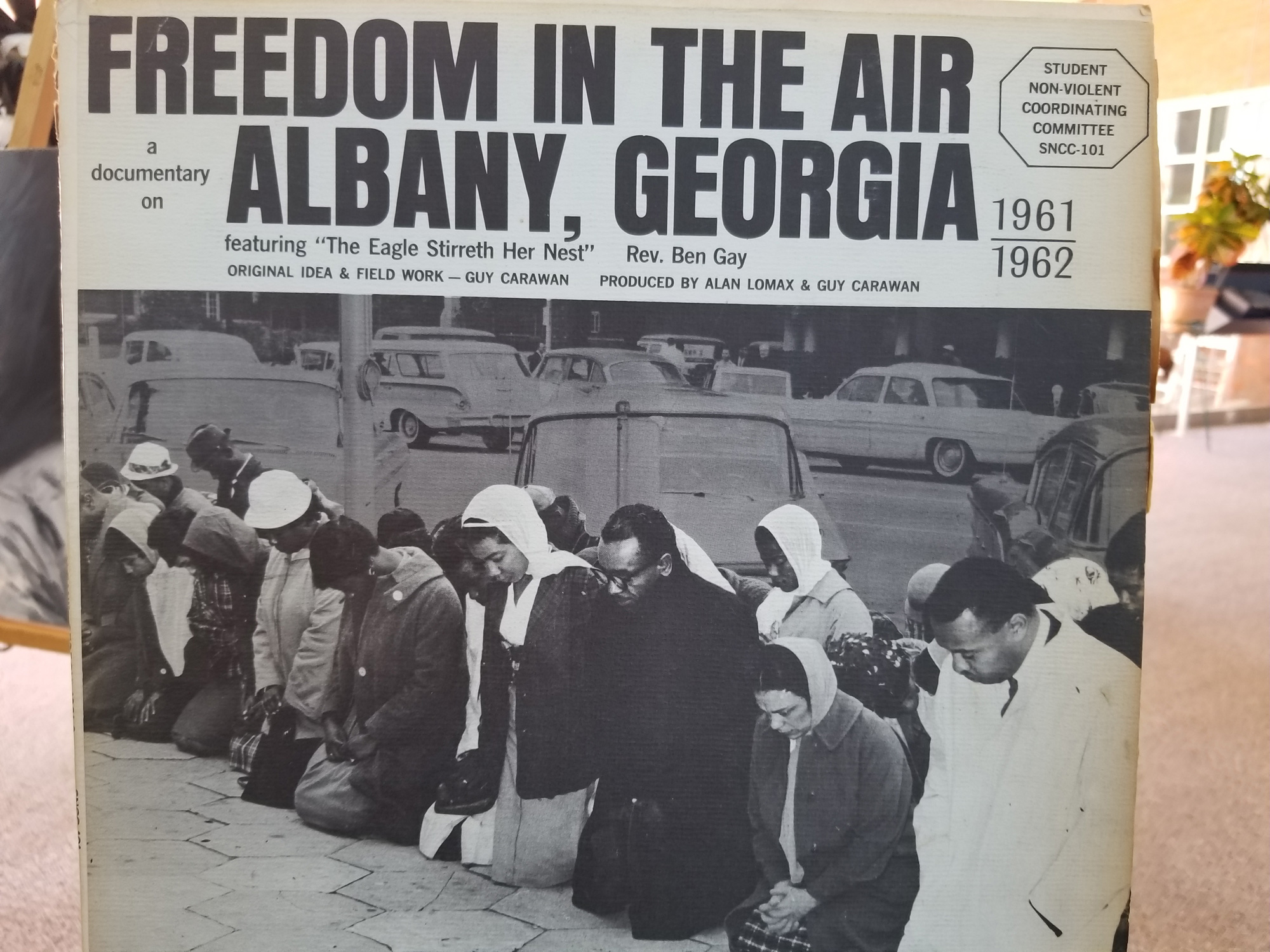 Newspaper coverage of the Albany Movement. Photo by Kalin Thomas