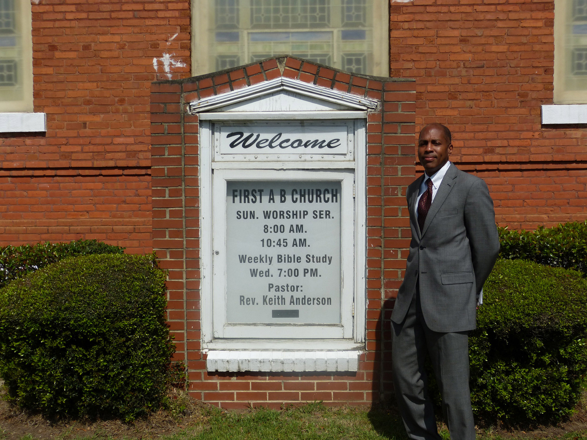 Carl Pearson at First African Baptist Church. Photo by Kalin Thomas