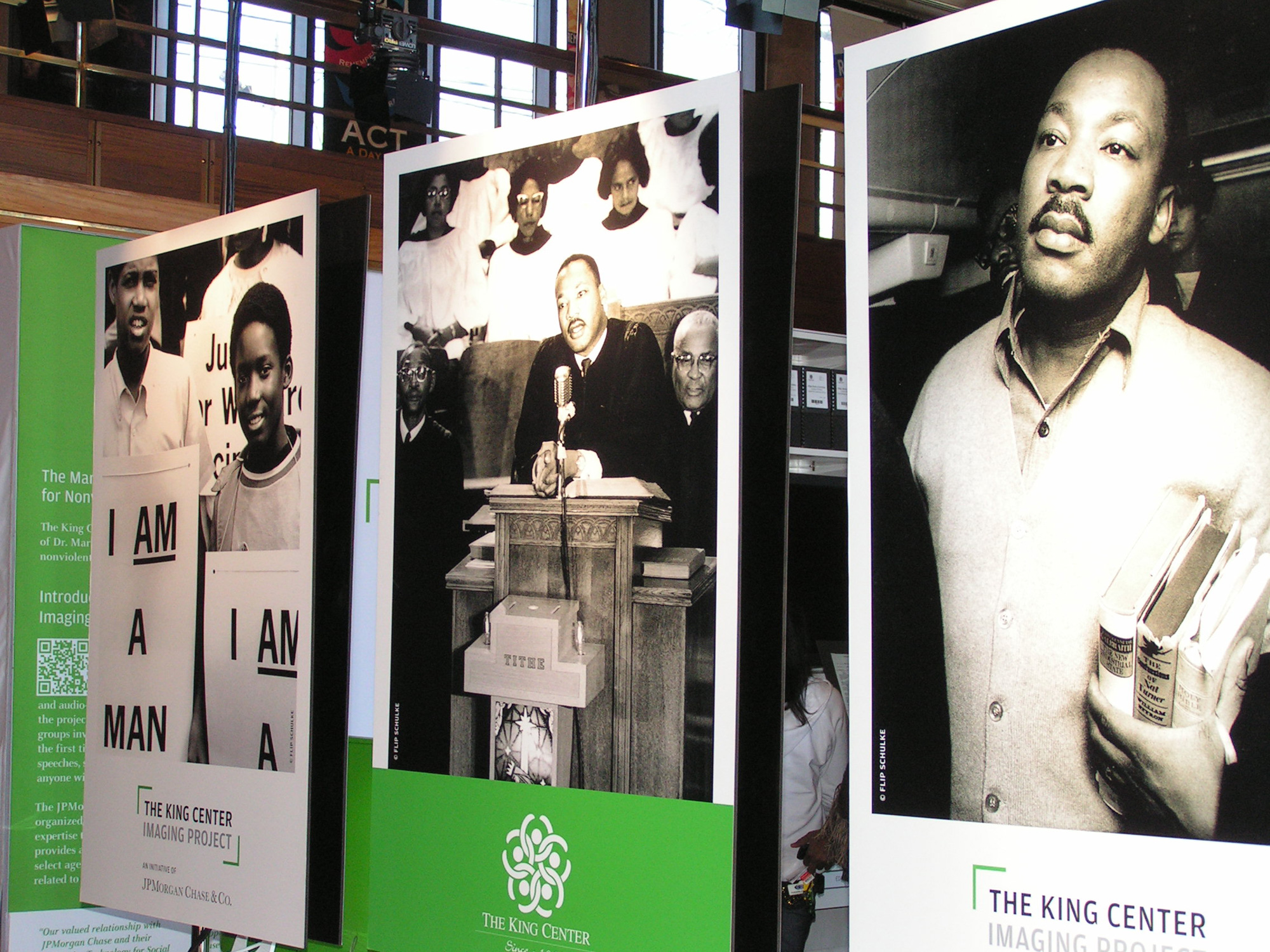 Exhibit at The King Center. Photo by Kalin Thomas