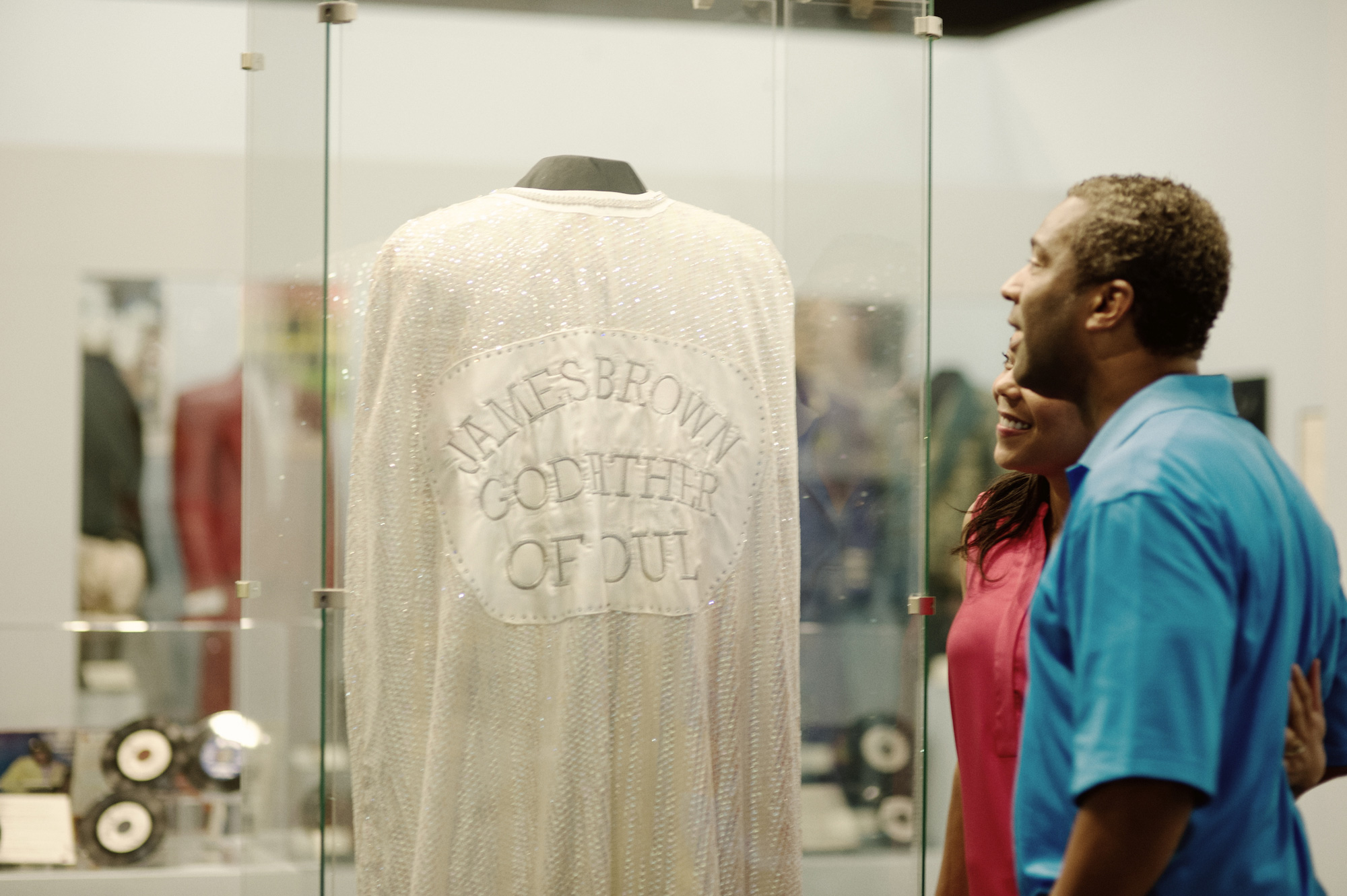 James Brown's cape on display at the Augusta Museum of History