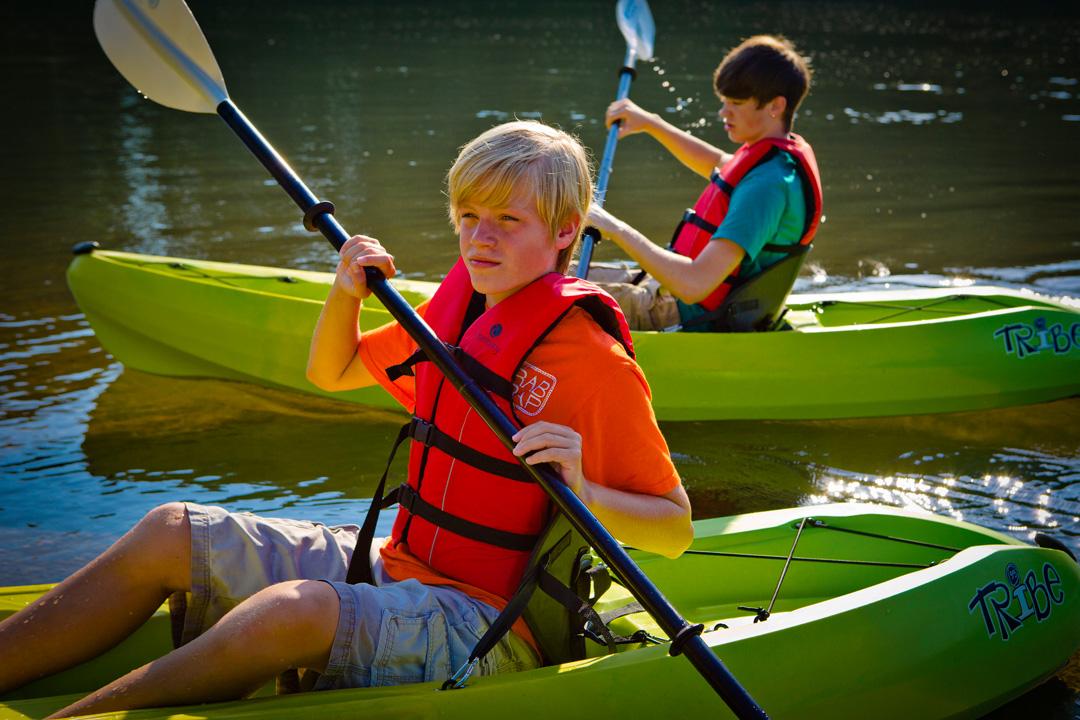 Kayaking on the Oconee River Greenway in Milledgeville