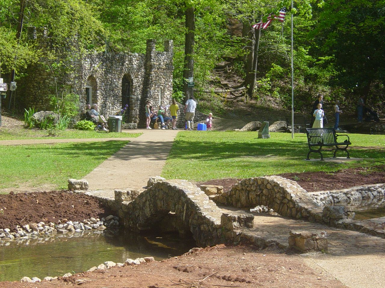 Help yourself to a drink of delectable water flowing from the cave at Rolater Park, and take a tour inside.