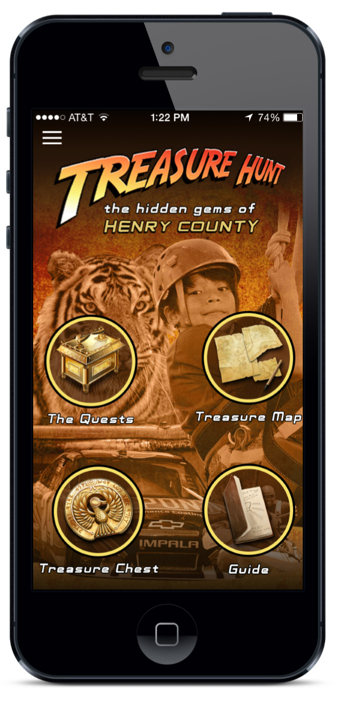 Henry County Treasure Hunt app
