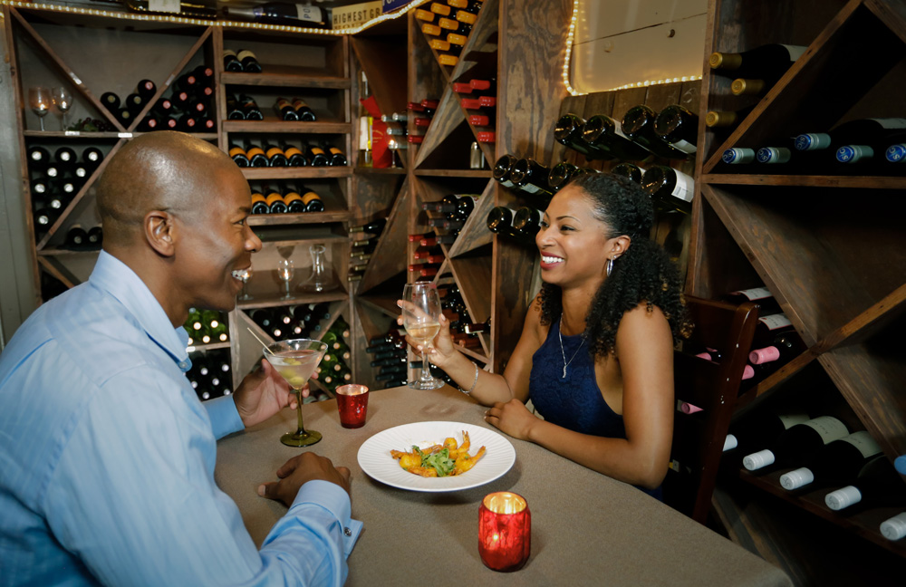Reserve a table in the bank vault for a romantic dinner at Aubri Lane's in Milledgeville.