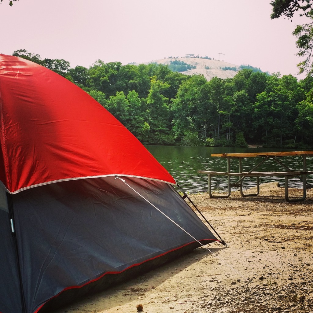 Camping at Stone Mountain Park. Photo by Candy Cook.