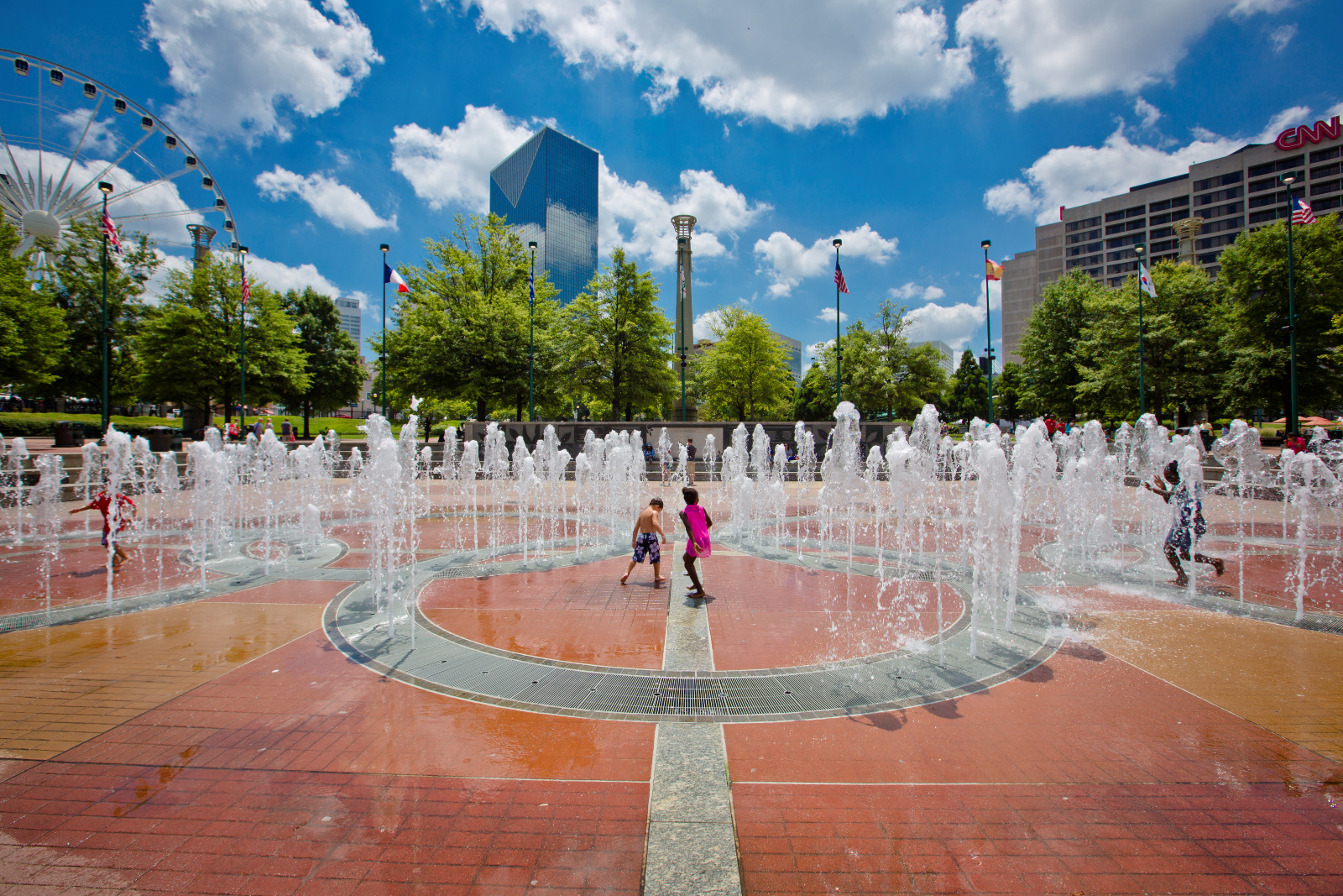 Fountain of Rings at Centennial Olympic Park in Atlanta