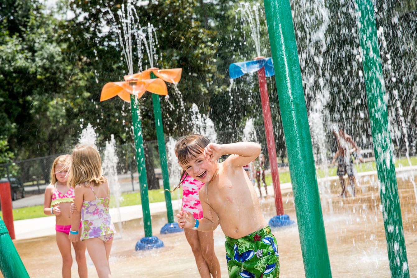 Splash pad at Little Ocmulgee State Park in McRae-Helena, Georgia