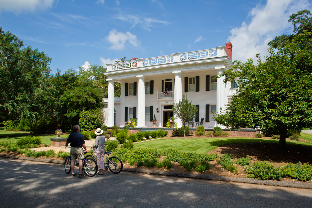 Bike through beautiful Madison, Ga., on the Antebellum Trail.