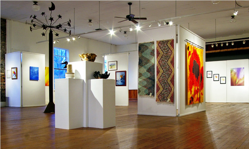 The Main Gallery at the Oconee Cultural Arts Foundation (OCAF). Photo courtesy of Oconee County Welcome Center