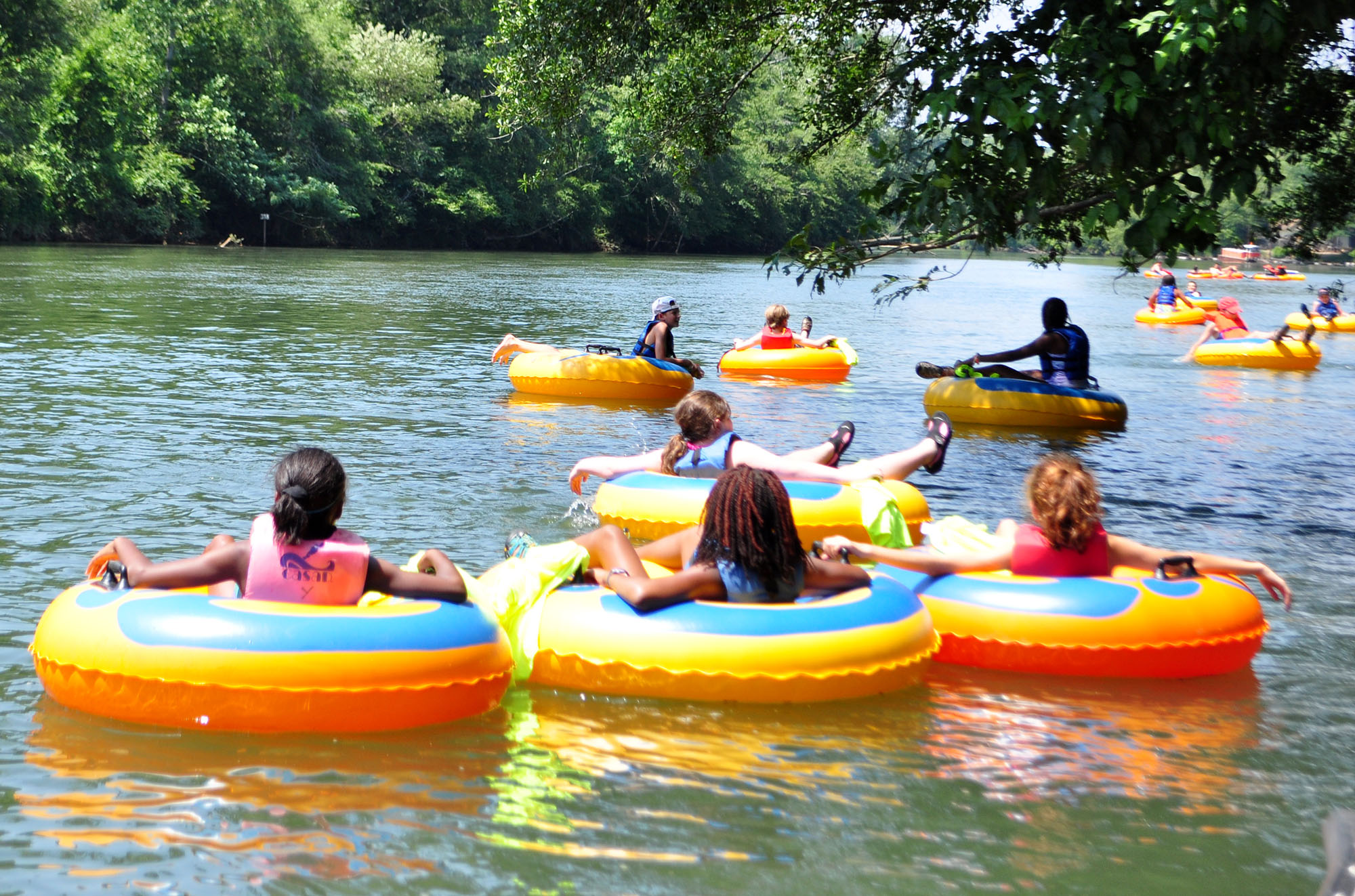 Tubing on the Chattahoochee River with Shoot the Hooch in Roswell, Georgia