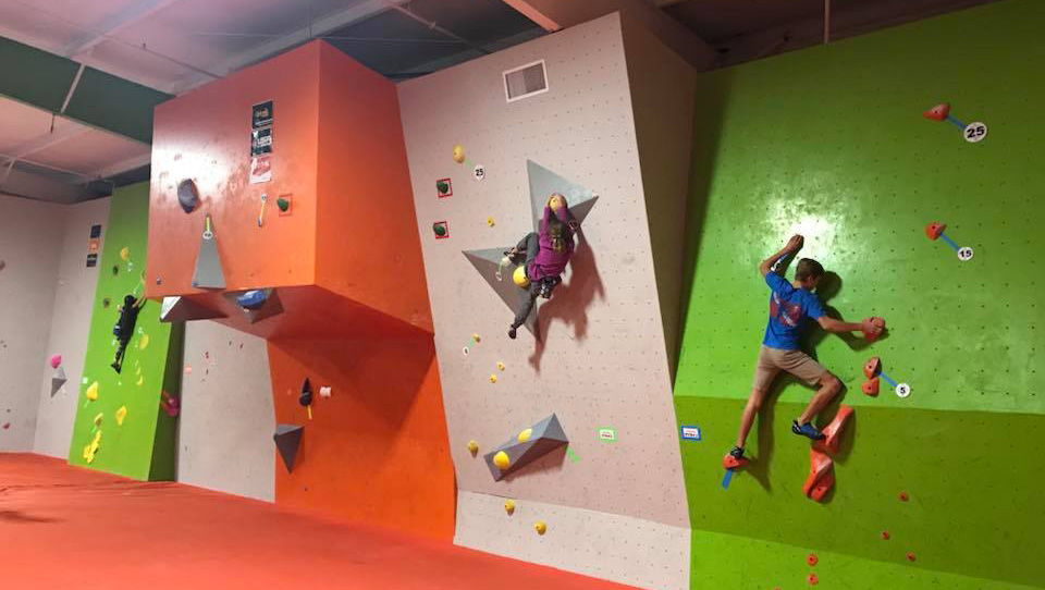 Indoor rock climbing at Active Climbing Augusta