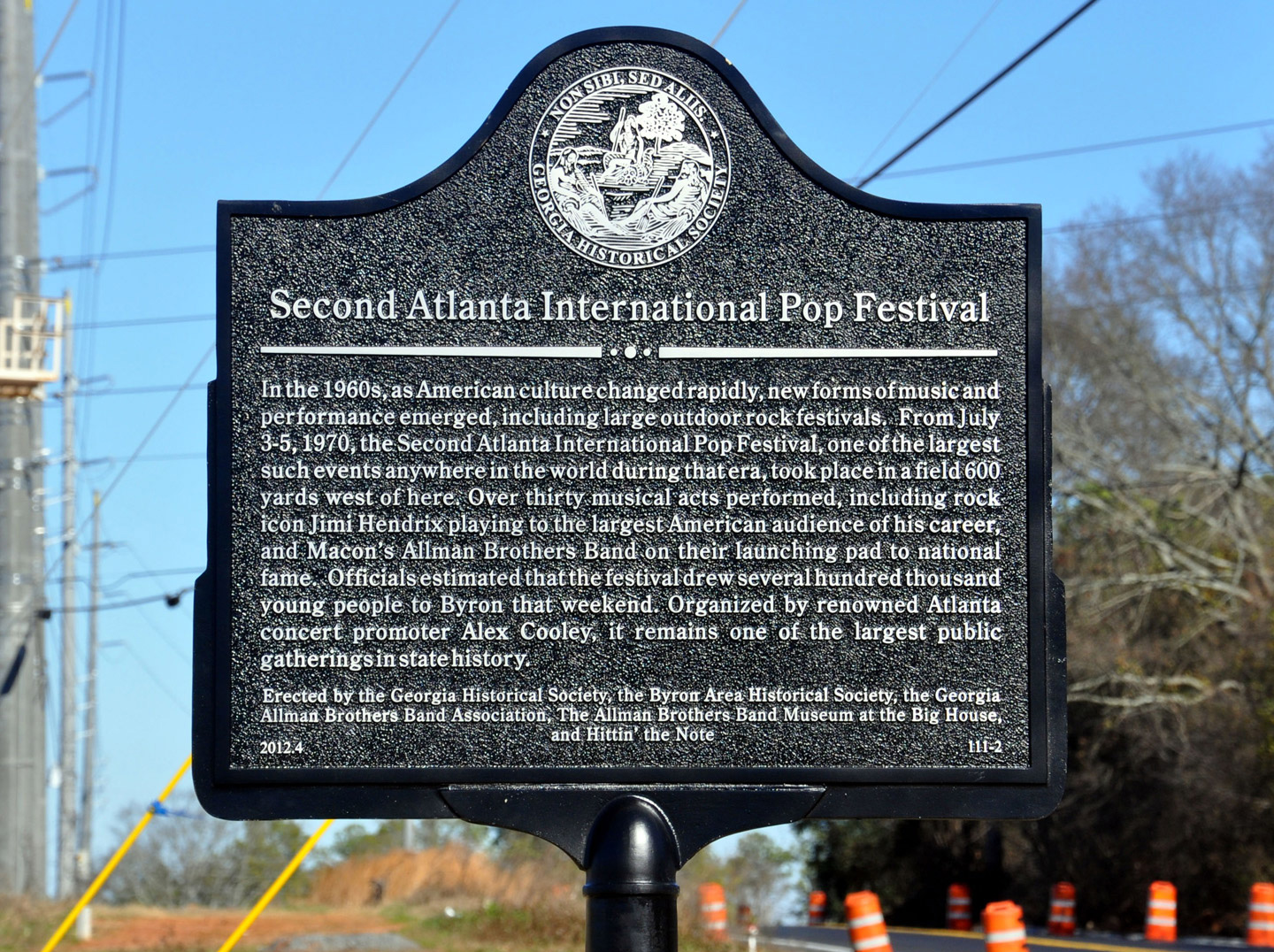 Allman Brothers Band Historical Marker in Byron