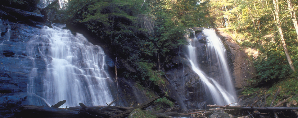 Anna Ruby Falls in Helen, Georgia