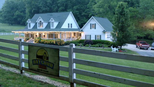 Dahlonega farm featured in Christmas in the Smokies. Photo courtesy Hallmark, Imagicomm Films