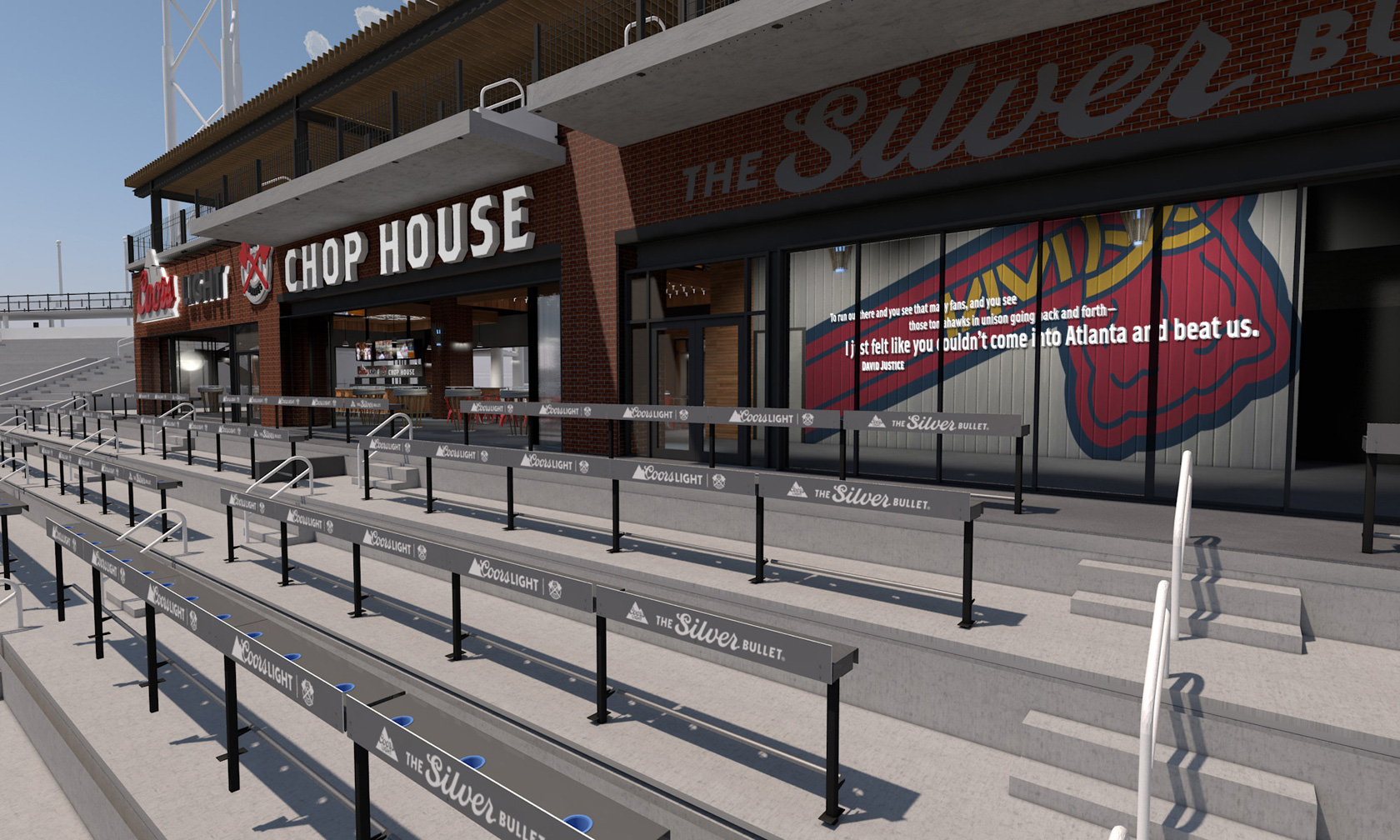Rendering of Coors Light Chop House at SunTrust Park