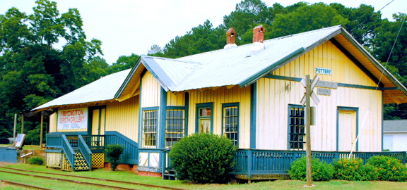 Farmington Depot Gallery. Photo courtesy of Oconee County Welcome Center