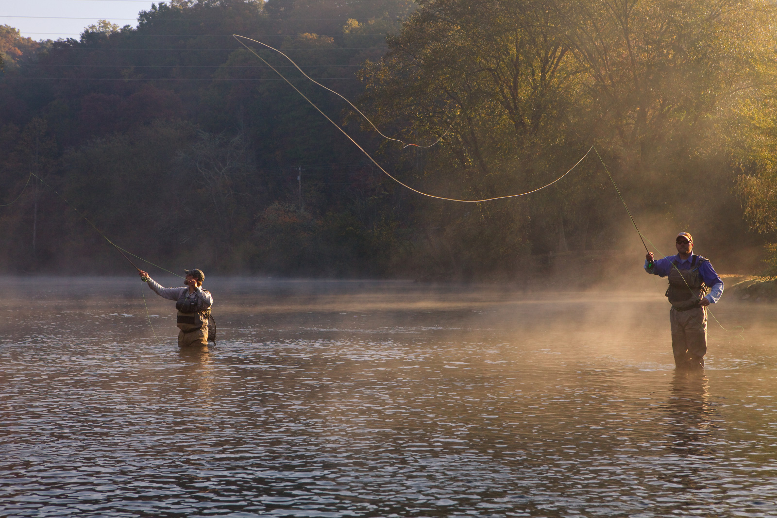 Fly-fishing on the Toccoa River