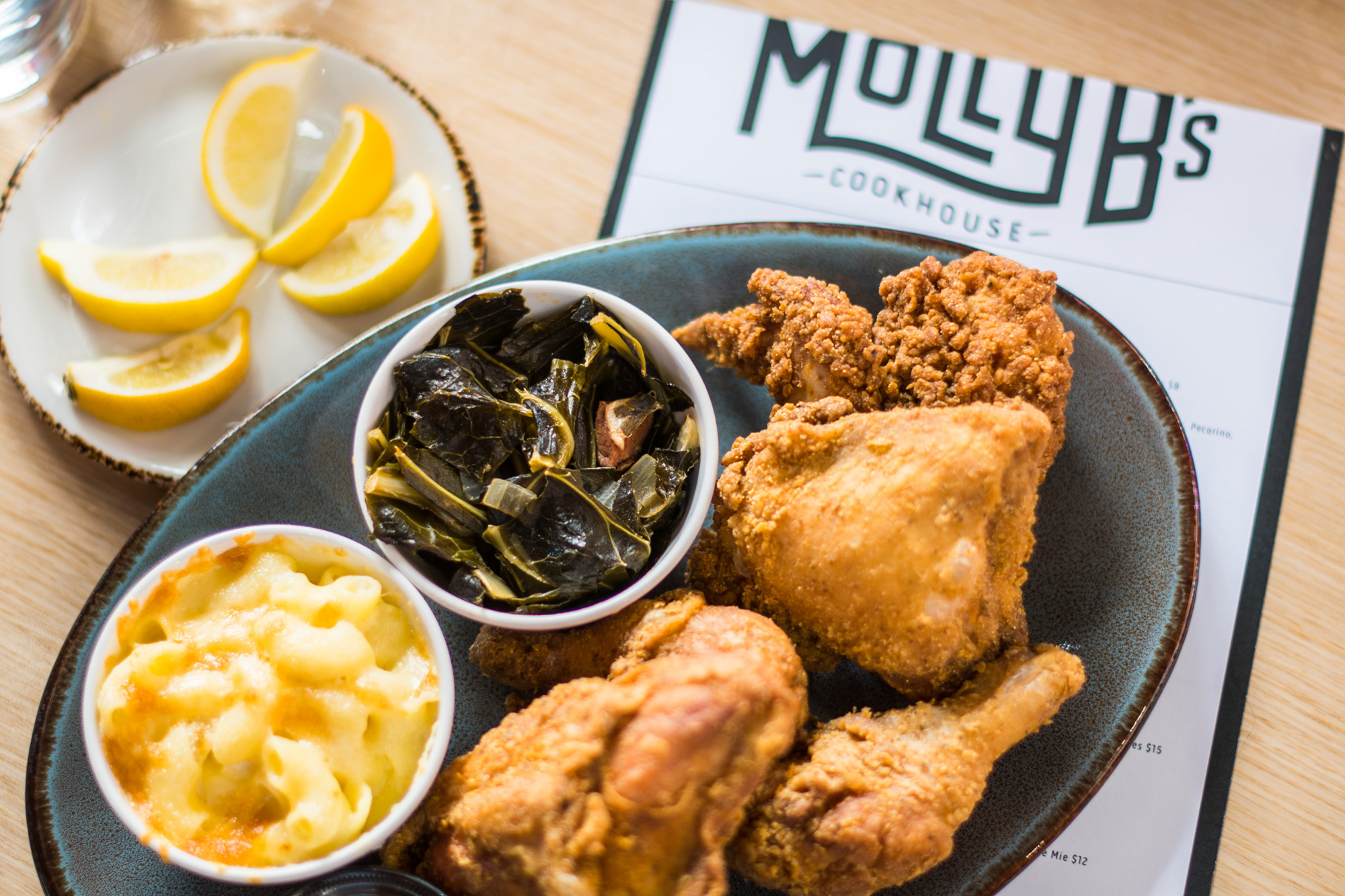 Fried chicken at Molly B's at Mercedes-Benz Stadium in Atlanta
