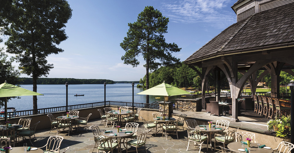 Come as you are by boat or car to Gaby's By the Lake at The Ritz-Carlton Lodge, Reynolds Plantation for some of the most inspiring views of Lake Oconee. - The Ritz-Carlton Hotel Company