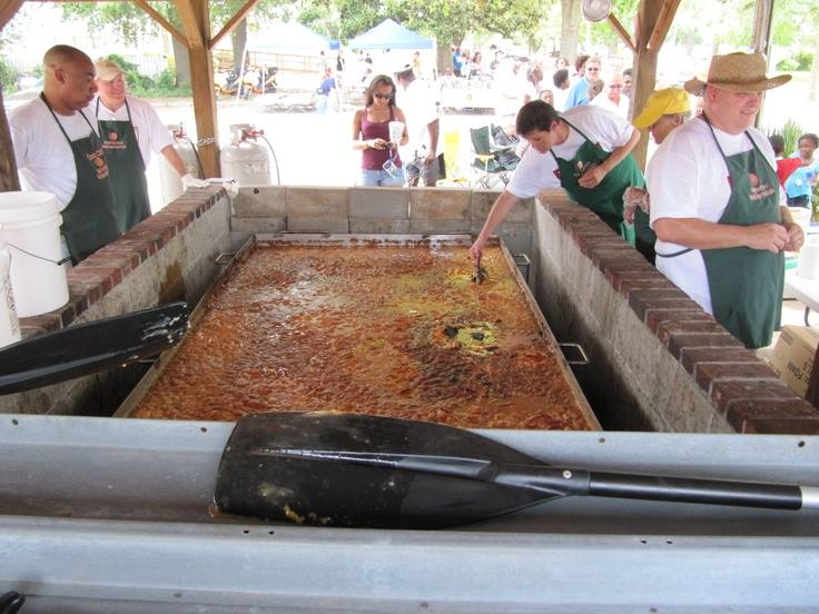 The World's Largest Peach Cobbler at the Georgia Peach Festival in Fort Valley, Georgia