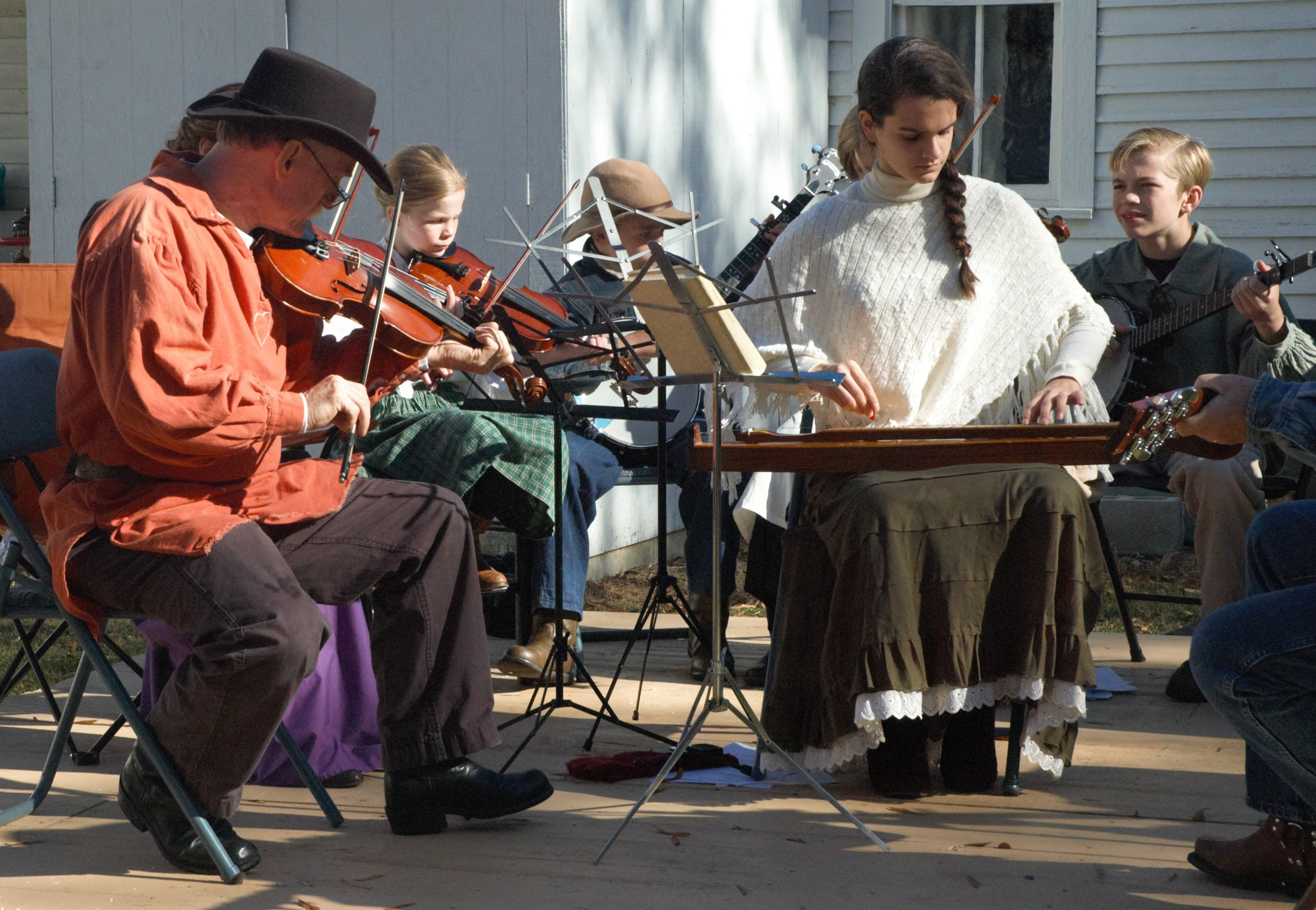 Listen to old time mountain music performed by young musicians