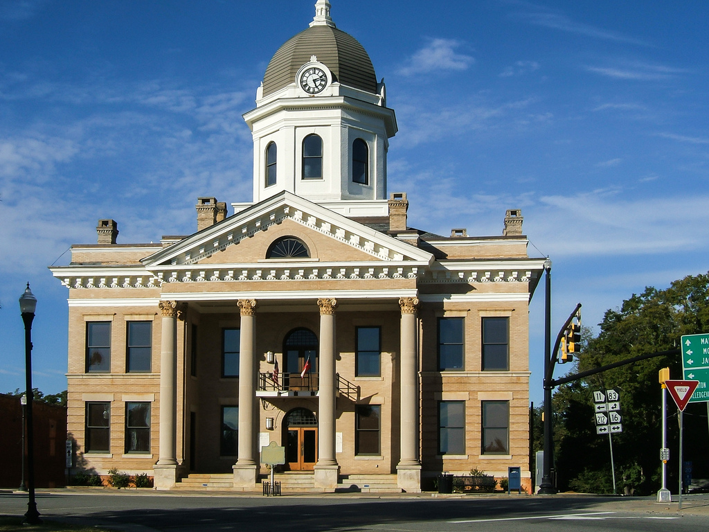 Jasper County Courthouse in Monticello, Georgia