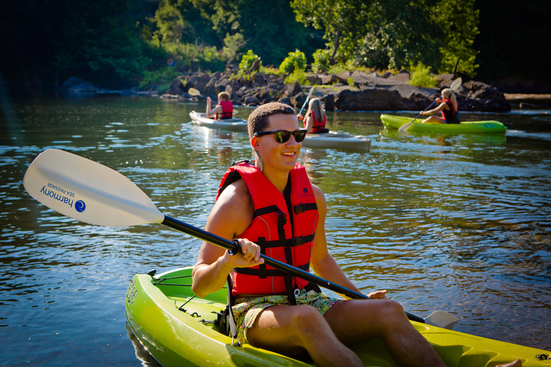 Kayaking on the Oconee River. Photo courtesy Milledgeville CVB