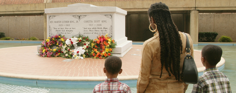 The final resting place of Dr. Martin Luther King, Jr. and wife Coretta in Atlanta, Georgia