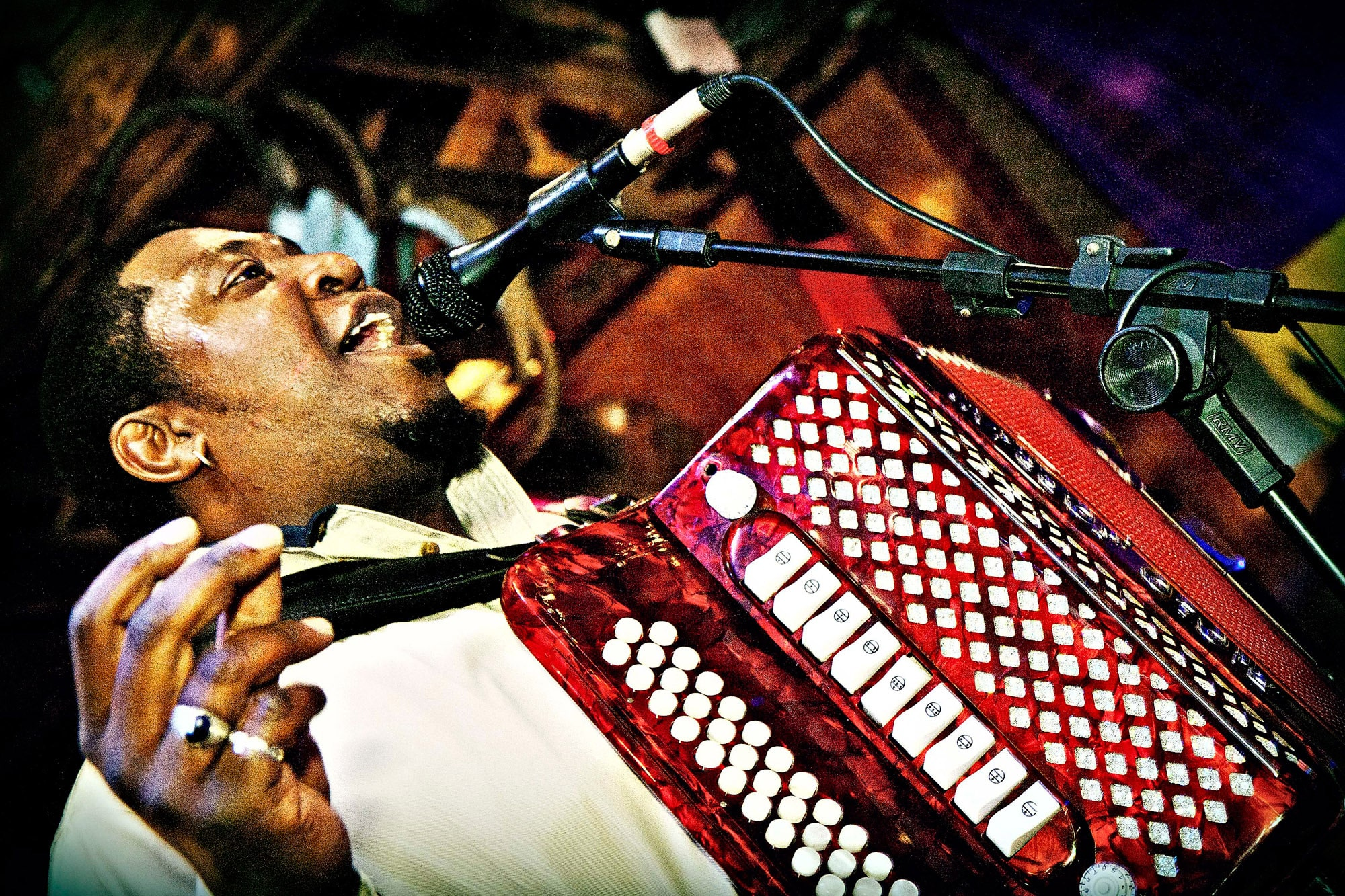 Zydeco music at Mardi Gras Tybee