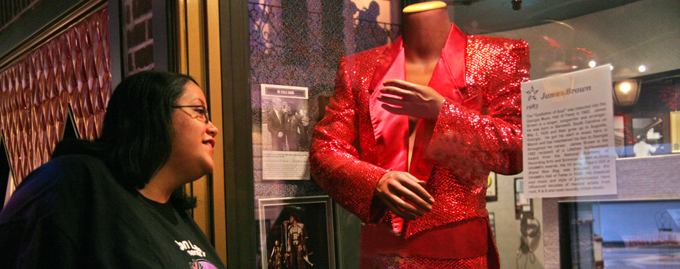 James Brown exhibit at the Augusta Museum of History