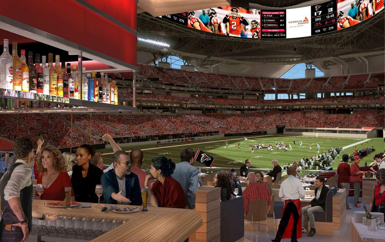 Rendering of Molly B's at Mercedes Benz Stadium