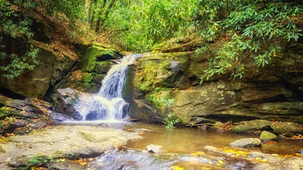 Enjoy stunning scenery while hiking Raven Cliff Falls Trail in Helen, Georgia. - Candy Cook