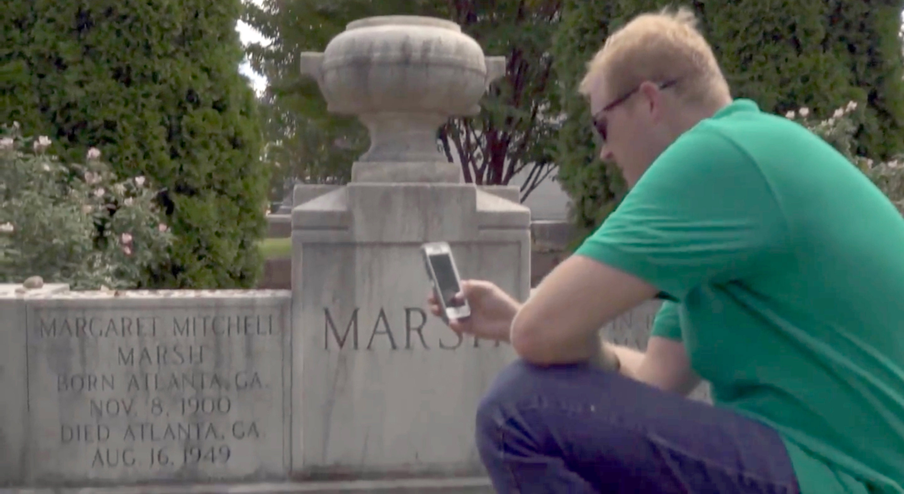 Use the Oakland Cemetery app to learn about Margaret Mitchell and more sites in the historic Atlanta cemetery.