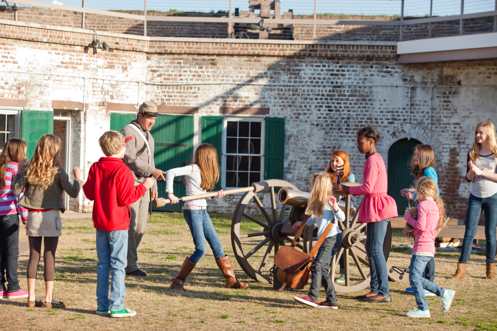 Used by Confederate forces as headquarters of the Savannah River defenses during the Civil War, Old Fort Jackson still has a functioning cannon. - GDEcD Photography