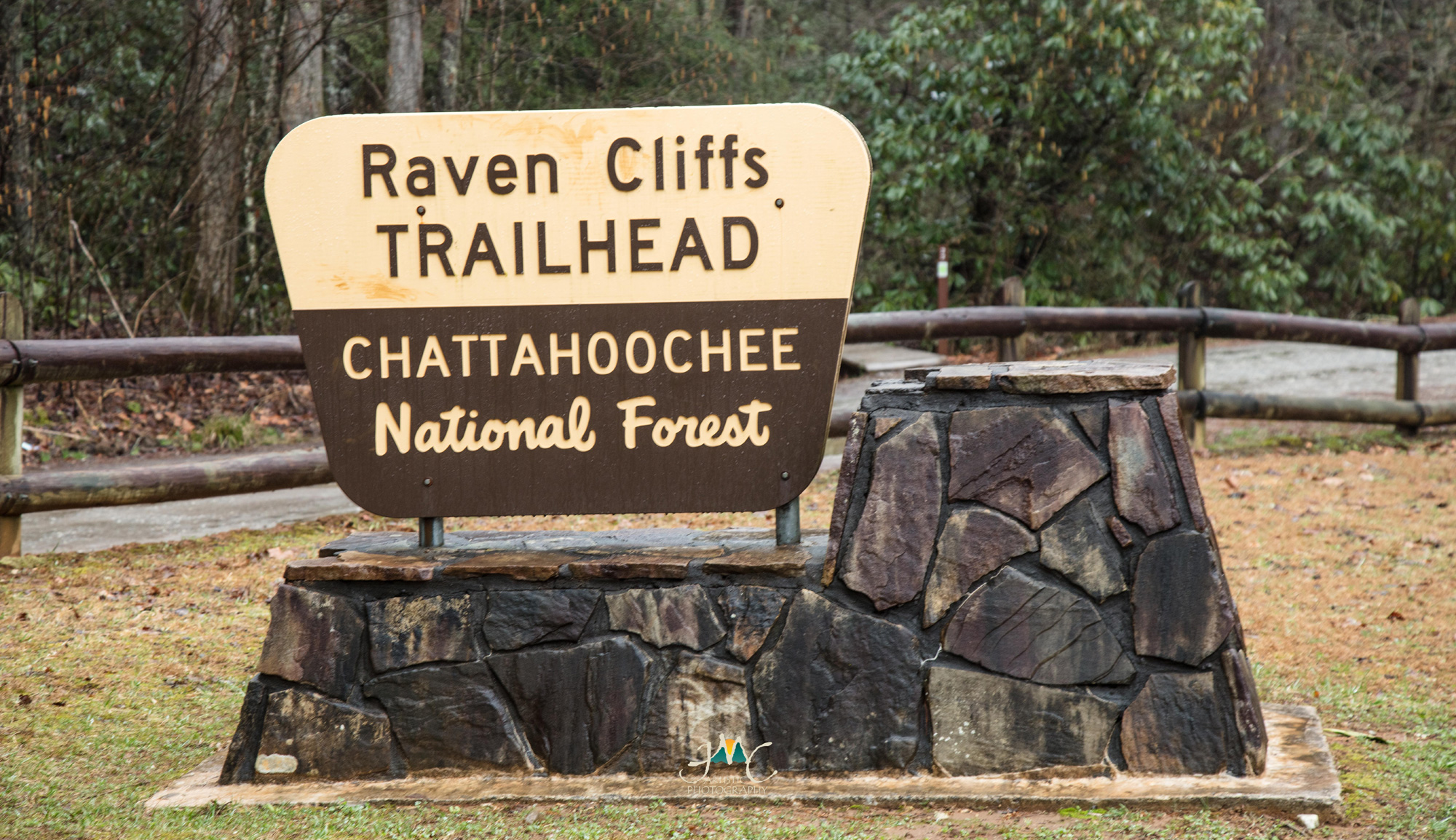 Raven Cliffs Trailhead sign. Photo by JMC Artistic Photography