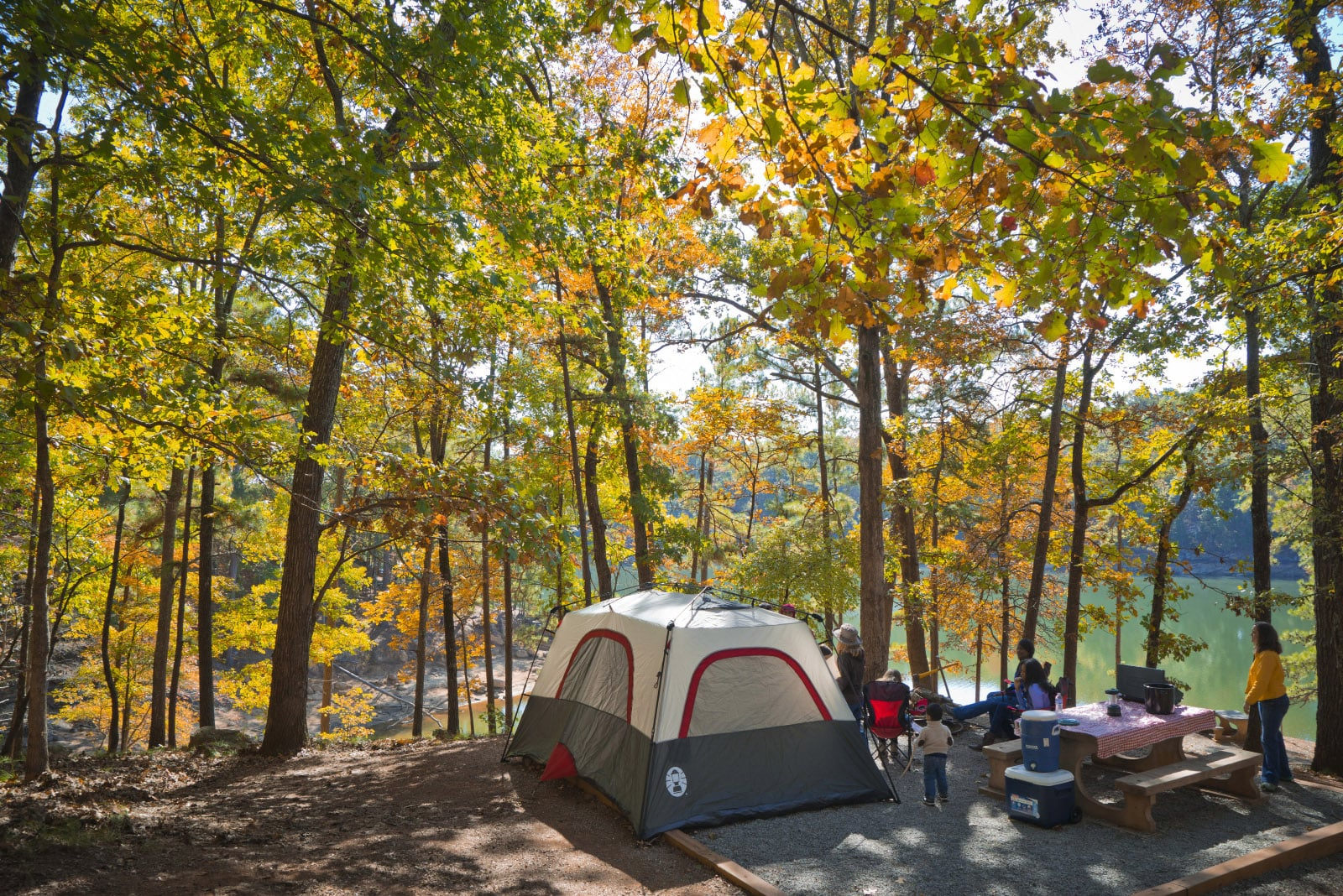 Fall camping at Red Top Mountain State Park on Lake Allatoona