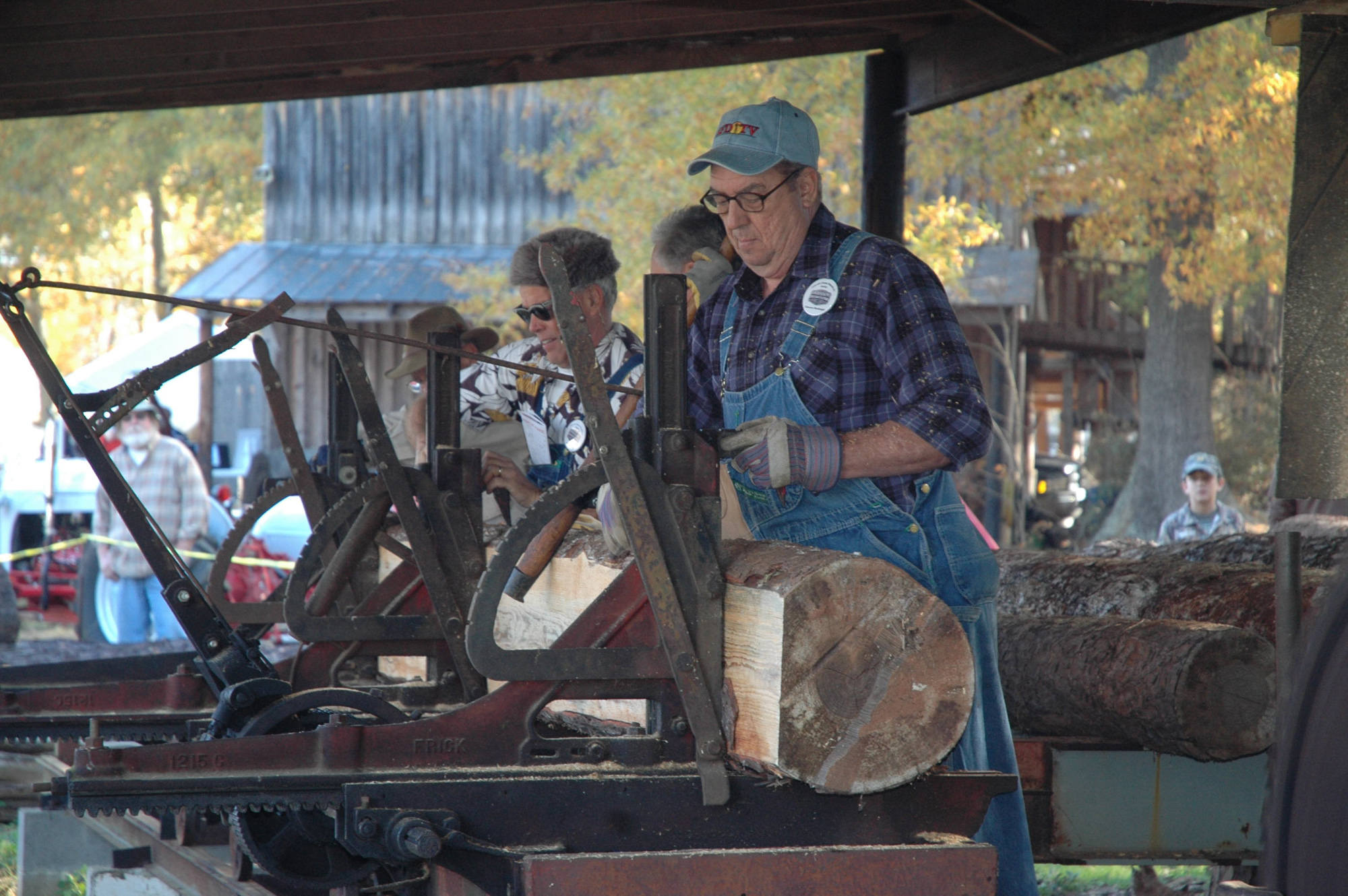 See demonstrations of the way lumber used to be cut using the Glaze sawmill