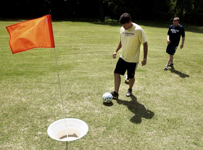 Play foot golf at Sea Palms Resort for a new twist on the game. - Photo courtesy Sea Palms Resort, Facebook