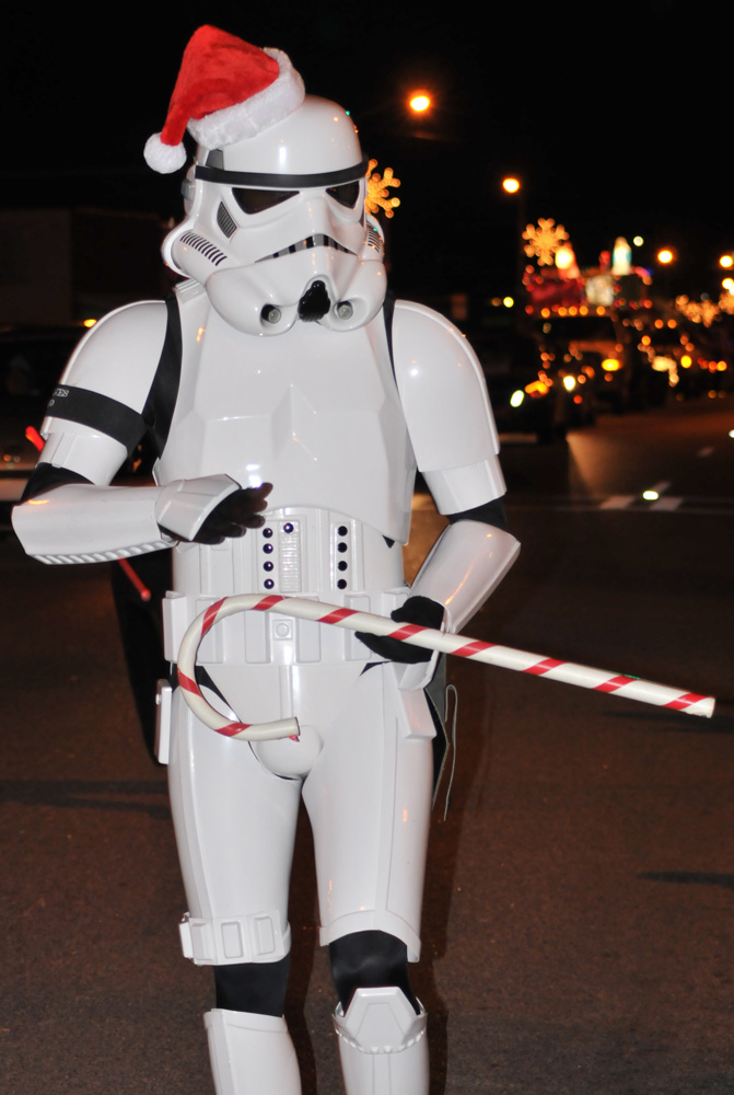 Stormtrooper at the North Georgia Mountain Christmas Parade